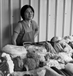 A merchant in Jhubei City, Taiwan, 2011.